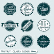 Vector Set: Premium Quality Labels — Stock Vector