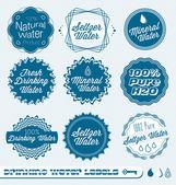 Vector Set: Seltzer Drinking Water Labels — Stock Vector