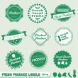 Vector Set: Organic Fresh Produce Labels — Stock Vector #11635384