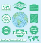 Vector Set: Travel Agency Labels — Stock Vector