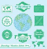 Vector Set: Travel Agency Labels — Stock Vector