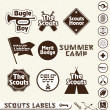 Stock Vector: Vector Set: Boy Scouts Merit Badge Labels
