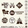 Vector Set: Boy Scouts Merit Badge Labels — Stock Vector #11787479