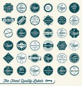 Vector Set: The Finest Quality Labels — Stock Vector
