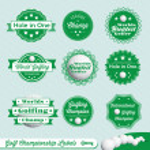 Vector Set: Golf Champion Labels — Stock Vector
