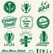 Vector Set: Brewery House Labels — ストックベクタ