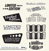 Vector Set: Limited Edition Signs Banners Labels — Stock Vector