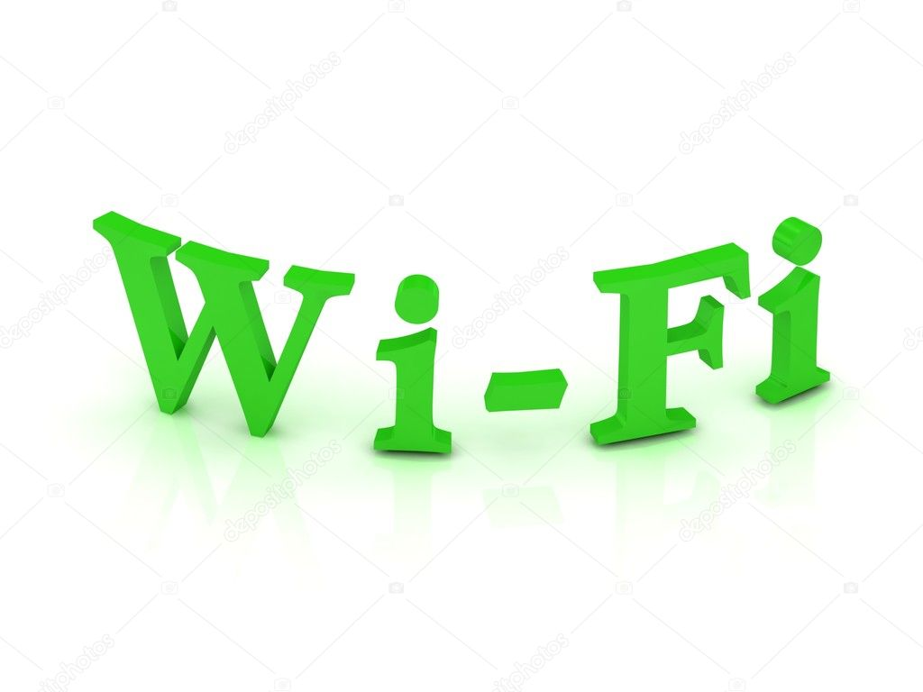 WIFI sign with green letters on isolated white background — Stock Photo #11781342