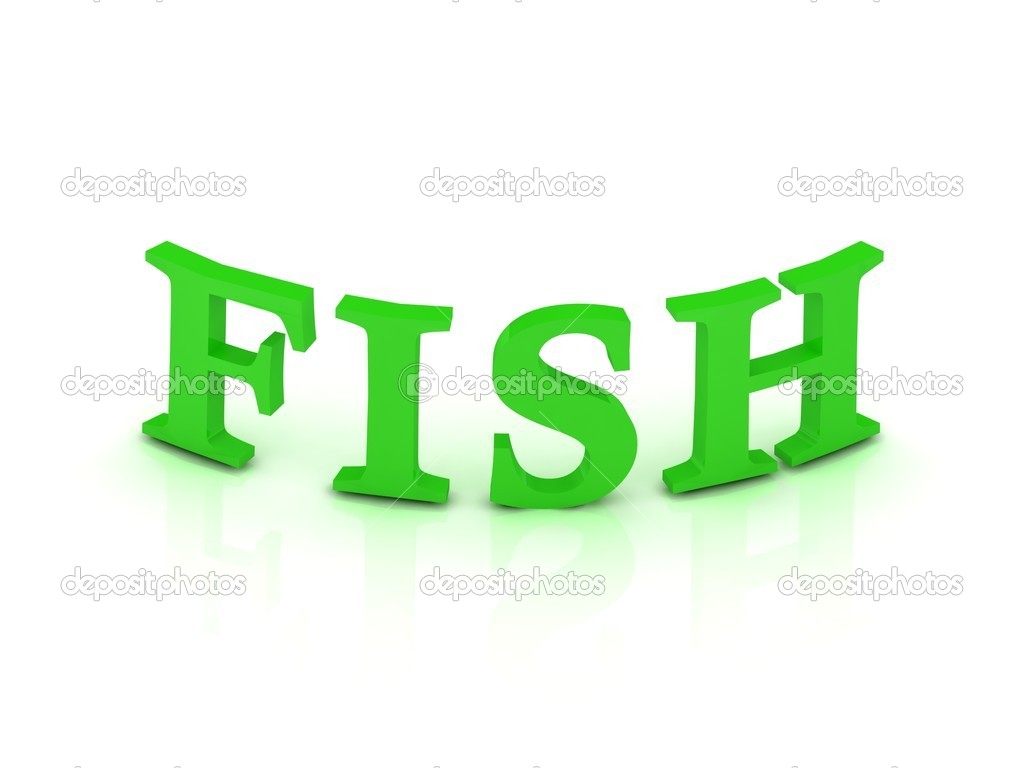 fish sign with green letters stock photo 11781442