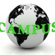 Royalty-Free Stock Photo: CAMPUS abstraction inscription around earth