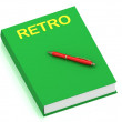 Royalty-Free Stock Photo: RETRO inscription on cover book