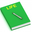 Royalty-Free Stock Photo: LIFE name on cover book
