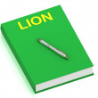 LION name on cover book — Stock Photo
