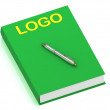 Royalty-Free Stock Photo: LOGO name on cover book