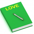 LOVE name on cover book — Stock Photo