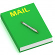 MAIL name on cover book — Stock Photo #12323900