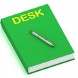 DESK name on cover book — Stock Photo