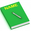 Stock Photo: NAME name on cover book