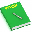 PACK name on cover book — Stock Photo