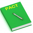 PACT name on cover book — Stock Photo