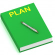 PLAN name on cover book — Stock Photo