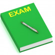 Stock Photo: EXAM name on cover book