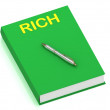 RICH name on cover book — Stock Photo