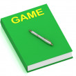Stock Photo: GAME name on cover book