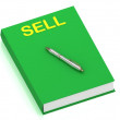SELL name on cover book — Stock Photo