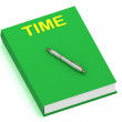 Stock Photo: TIME name on cover book
