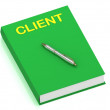 Royalty-Free Stock Photo: CLIENT name on cover book