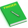 FINGER name on cover book - Stock Photo