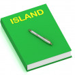 ISLAND name on cover book — Stock Photo