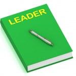 领导名称上封面的书 — 图库照片