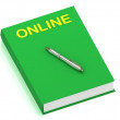 ONLINE name on cover book - Stock Photo