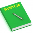 Stock Photo: SYSTEM name on cover book