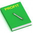 PROFIT name on cover book - Stock Photo