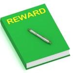 REWARD name on cover book — Stock Photo #12324203