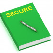 SECURE name on cover book — Stock Photo