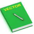 VECTOR name on cover book — Stock Photo