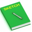 SKETCH name on cover book — Stock Photo #12324235