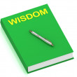 WISDOM name on cover book — Stock Photo