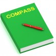 COMPASS name on cover book — Stock Photo