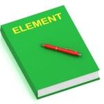 nombre del elemento en libro de cubierta — Foto de Stock