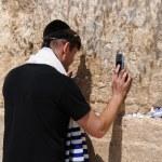 Conversation good luck. Wailing Wall, Jerusalem, Israel — Stock Photo #11083401