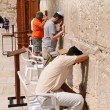 Prayer at a western wall in Jerusalem. Israel. — Stock Photo #11083480
