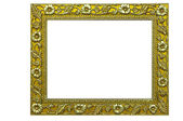 Gold photoframe — Stock Photo