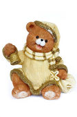 Christmas ornament niedźwiadek santa claus — Zdjęcie stockowe