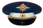 Peak-cap of the Russian officer of traffic — Stock Photo