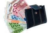 Euros em dinheiro — Foto Stock